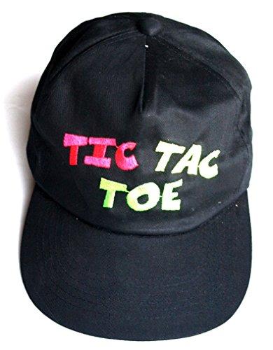 basecap-tic-tac-toe-baseball-cap-schwarz-baumwolle-bestickt-verstellbar-bis-grosse-58