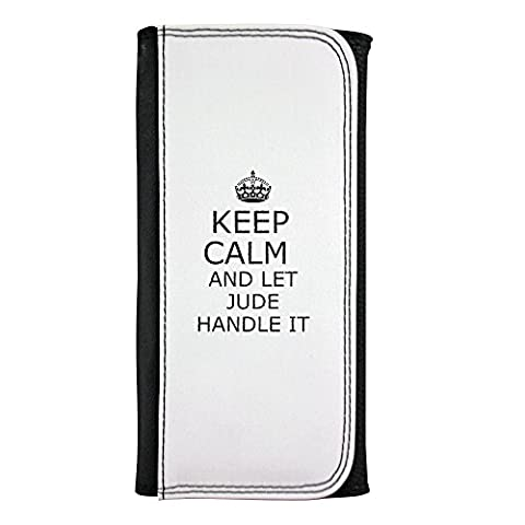 Leatherette wallet with Handle it JUDE Keep calm
