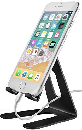 997ea45c5 UziaK Soporte Móvil, Soporte Teléfono : Soporte Dock Base para Teléfono e  Smartphones para Phone XS MAX XR X 8 7 6+ 5, Samsung S10 S9 S8 S7 S6,  Huawei, ...