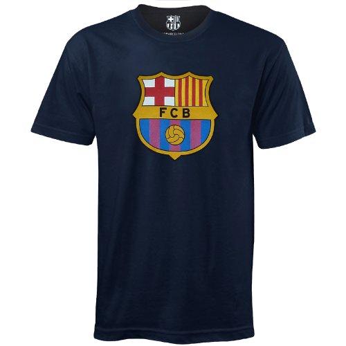 FC Barcelona Official Football Gift Mens Crest T-Shirt