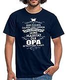 Spreadshirt Seine Majestät Der Opa Spruch Männer T-Shirt, 4XL, Navy