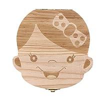Baby Teeth Box Wooden Tooth Album Souvenir Box Organizer Girl AZ-005