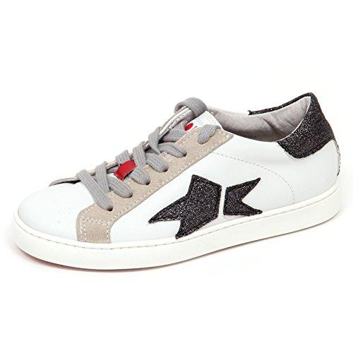 13b1a6422d Ishikawa E2674 Sneaker Bimba Sequel by Scarpe Blu/Bianco Glitter Shoe Kid  Girl [30