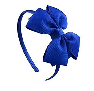 Whyyudan Beautiful Hair Decoration Gift Fashion Hairband Double Layer Bow Tie Headband for Children's Hair Decorations (Royal Blue)