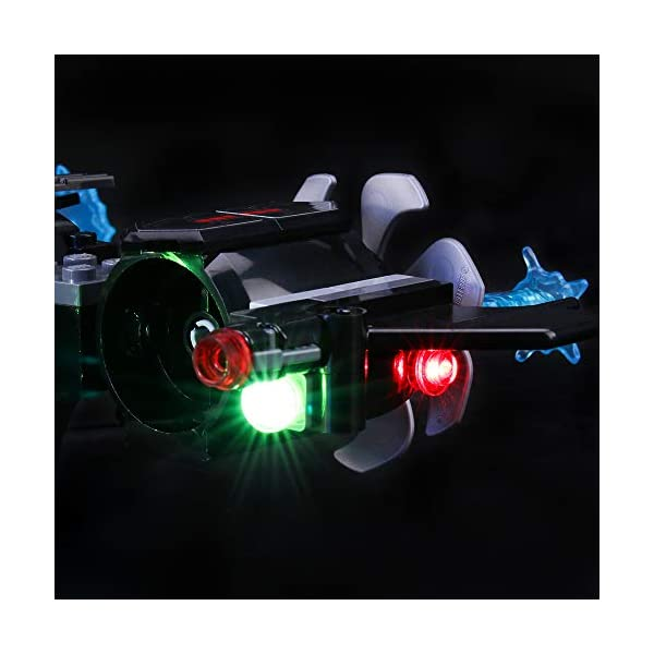 BRIKSMAX Kit di Illuminazione a LED per Lego Super Heroes Batsub di Batman e Il duello Sottomarino,Compatibile con Il… 5 spesavip