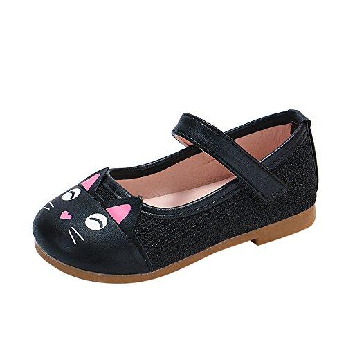 (Sonnena Einzelne Schuhe Kleinkind Niedlich Schuhe Kinderschuhe Mädchen Karikatur Katze Schuhe Mädchen Lederschuhe Leichtgewicht Rutschfeste Prinzessin Schuhe Shoes)