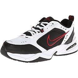 Zapatillas de entrenamiento Nike Air Monarch IV (4E) - Blanco / Negro / Rojo universitario, Tama?o 11 US