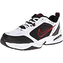 Zapatillas de entrenamiento Nike Air Monarch IV (4E) - Blanco / Negro / Rojo universitario, Tama?o 11 US
