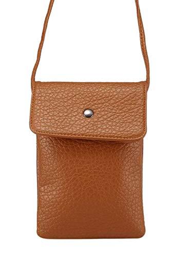 Jumojufol Unisex Pu Harper Crossbody Tasche Frauen Kleine Telefon Brieftasche Handtasche brown One Size