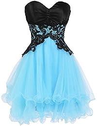 ASVOGUE Vestido de Dama de Honor Corto Baile en Fiesta para Chicas Jóvenes
