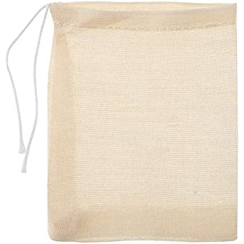 Reusable Mesh Bags with Drawstring Irich 30 Pack Cotton Muslin Bags 100/%...