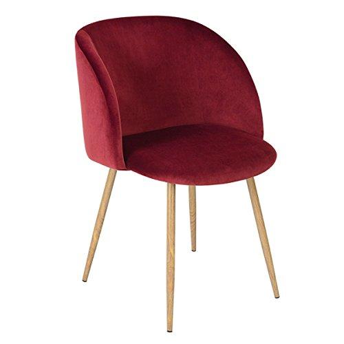 QXX Nordic Dining Stuhl Armlehnstuhl Soft Accent Stuhl Lazy Couch Einzel Freizeit Stuhl für Lounge Wohnzimmer, 20.7 * 17.1 * 32 Zoll (Farbe : Red) - Accent Stuhl
