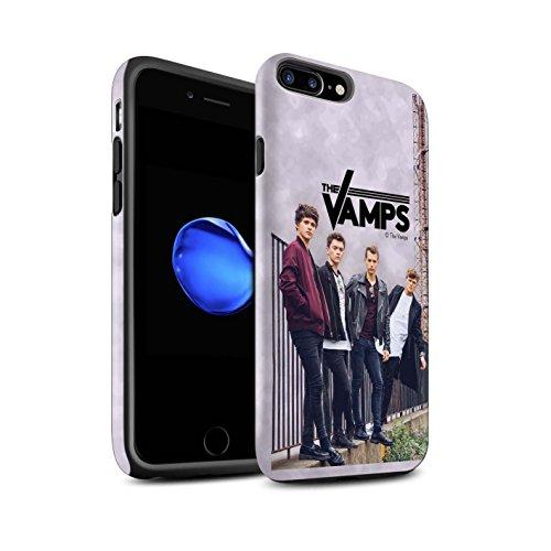 Officiel The Vamps Coque / Matte Robuste Antichoc Etui pour Apple iPhone 7 Plus / Scrapbook Design / The Vamps Séance Photo Collection Scrapbook