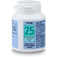 Schüssler Salz Nr. 25 Aurum chloratum natronatum D12 - 400 Tabletten, glutenfrei
