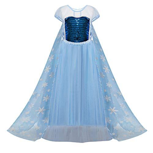 98c489f67732 UOMOGO Costume da Principessa Elsa