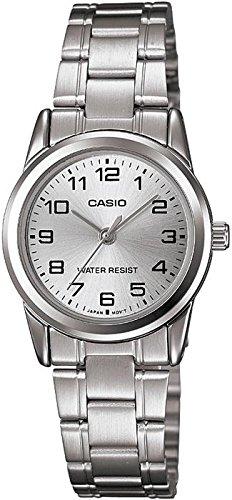 CASIO LTP-V001D-7 – Reloj con movimiento cuarzo, para mujer, color plateado