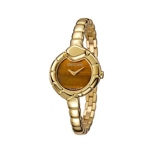 Montre Femme Roberto Cavalli by Franck Muller rv1l010m0041Acier Gold doré