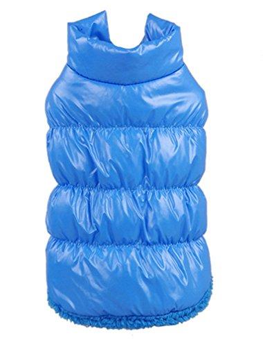 La Vogue-Cappotto di Cotone Giacca Casual per Cane Invernale Azzurro