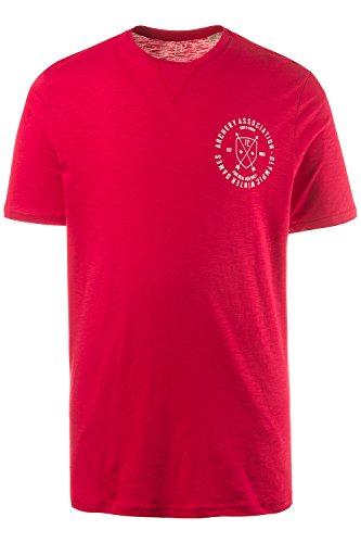 JP 1880 Große Größen Herren T-Shirt Dunkelrot