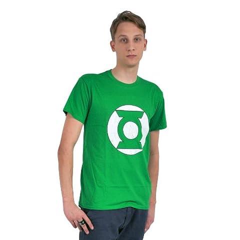 Green Lantern Logo T-Shirt Herren Comic Marken Shirt Baumwolle grün - L
