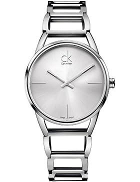 Calvin Klein Damen-Armbanduhr XS ck stately Analog Quarz Edelstahl K3G23126