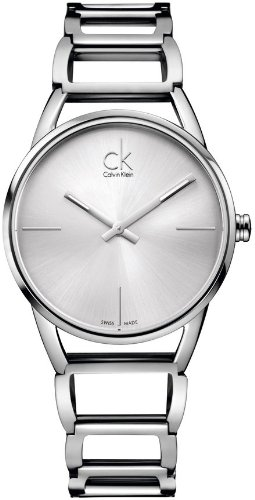 Calvin Klein Women's Quartz Watch ck stately K3G23126 with Metal Strap