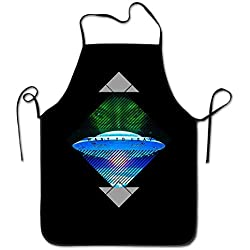 Pillowcase shop Apron Chef Kitchen Cooking Apron Bib I Want To Leave UFO Aliens Fly To The Space Fashion