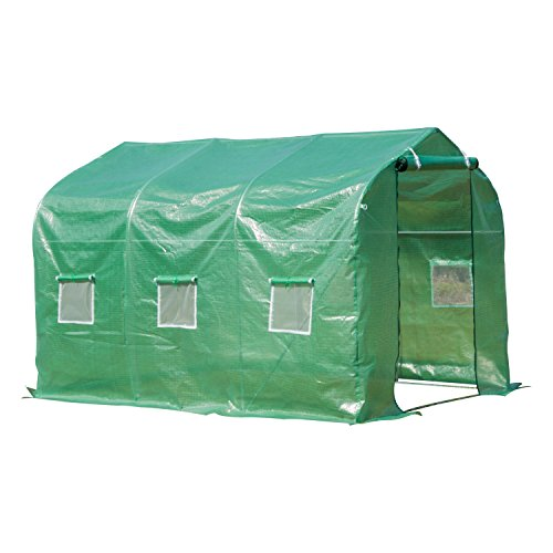 Used, Outsunny Walk in Polytunnel Greenhouse with Windows for sale  Delivered anywhere in UK