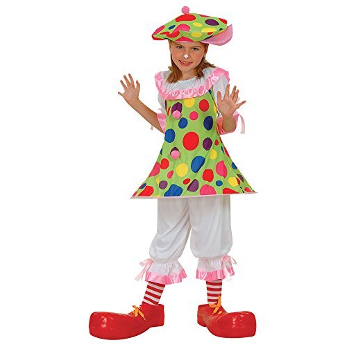 (XL) Mädchen Clownerie Rund Um Kostüm Carnival Circus Kirmes Kostüm Kinder XL 11-13 (Ideen Circus Kinder Kostüme Für)