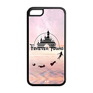Cas Coque iPhone 5c Forever Young Peter Pan TPU Silicone Materials Cover Case for iPhone 5c