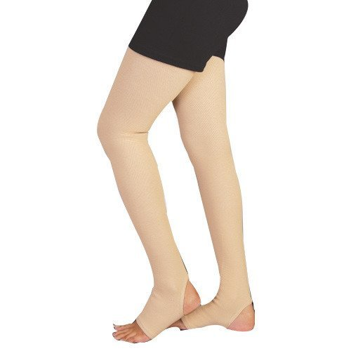 Orthowala ® - Varicose Vein full leg Stocking Circulation Compression Socks pair - Large-Size-at Knee-35-37 CM