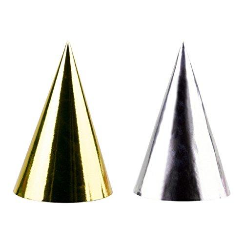 PPY NEW YEAR * in Gold und Silber // Silvester Verkleidung Hüte Hütchen Party ()