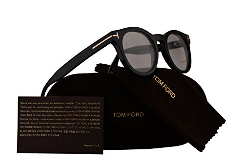 Tom Ford Unisex-Adult FT5489 Brillen 48-22-145 w/Demo-Raum-Objektiv 001 TF5489 FT 5489 TF 5489 Glänzend Schwarz groß
