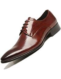 4a8bc41a7d Derby Four Seasons Zapatos De Cuero para Hombres Vestido De Negocios  Inglaterra Transpirable Fiesta Trabajo Marrón