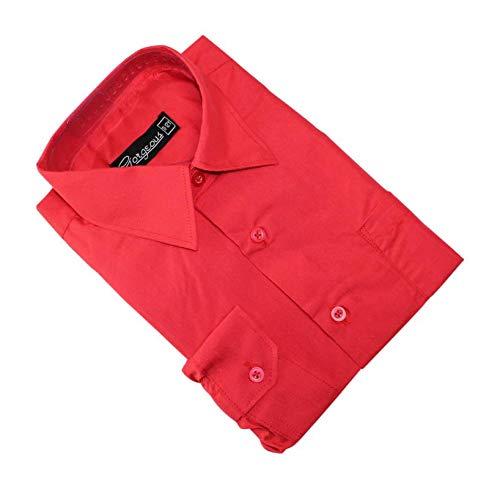 Ozmoint - Camisa - Manga Larga - niño Rojo Rosso