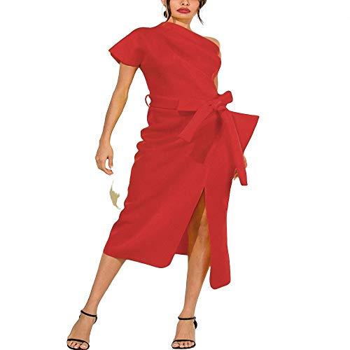 Calvin Speicher (Yuhualiyi123 Kleid Damenmode sexy einfarbig Frauen gekräuselten Midirock)
