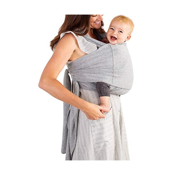 MOBY Fit Baby Wrap Carrier for Newborn to Toddler up to 30lbs, Baby Sling from Birth, One Size Fits All, Breathable Stretchy Made from 100% Cotton, Unisex Moby Perfect for newborns - hug them close to your heart Front and outward carrying positions Grows with baby, from new-born to toddler 1