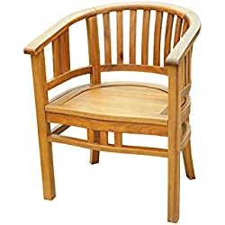 SAM Garten-Sessel Karlebo, Sessel aus Akazien-Holz, Stuhl für Balkon Terrasse, Gartenmöbel, FSC® 100% Zertifiziert