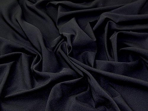 Uni Stretch Chiffon Kleid Stoff, Meterware, Schwarz 39c17e9dfb