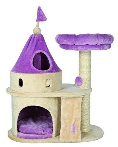 Trixie My kitty darling arañazos castillo, 90cm, beige/Lila