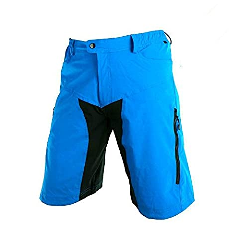 speedspo Herren Outdoor Sport Multifunktion MTB Hose Blau Gr. (Dry Comfort Notte Pad)