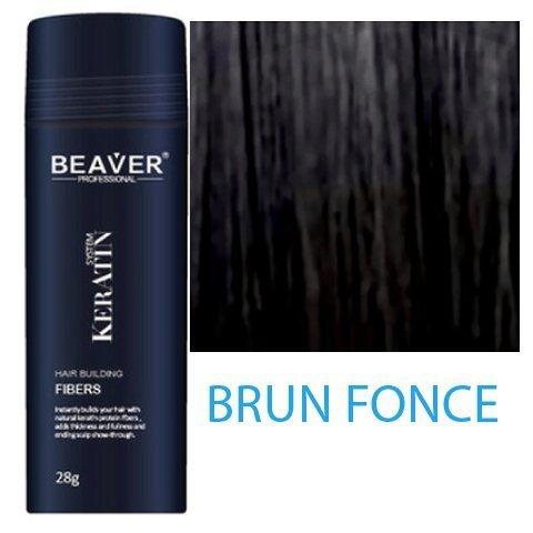 Beaver Keratin Hair Building Fibers 28g/0.98 oz - Dark Brown -