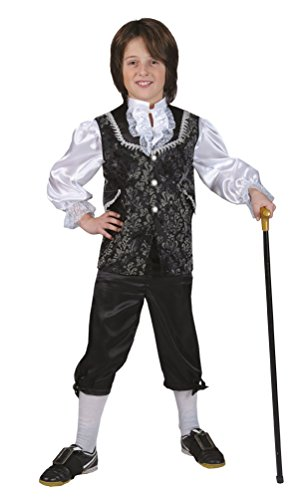 arock Kostüm Kinder Renaissance Kostüm Junge Rokoko Kinder-Kostüm grau Größe 116 (Renaissance-kostüm-muster)