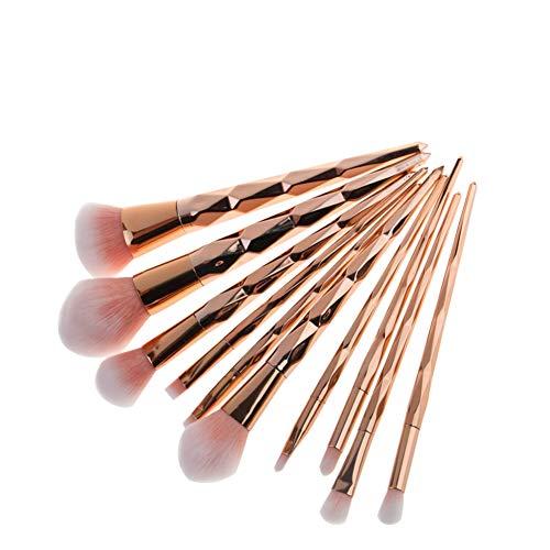 Pinceaux de maquillage Set 10 Pcs haut de gamme Premium cosmétiques synthétiques Contouring Poudre Contour Fondation Sourcils Fard À Paupières Maquillage Brush Set Kit