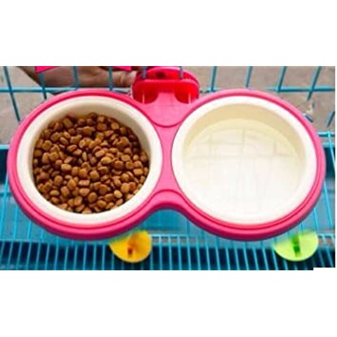 ZPP-Suministros de mascota perro perro cuencos de jaulas jaulas jaulas cat dog especial colgado tazones tazón de comida de perro colgando espesa skid pet Bowl,S-2