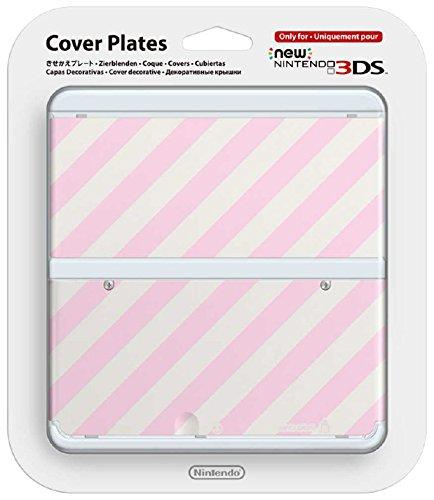 New Nintendo 3DS Zierblende 013 (Rosa-Weiß Gestreift)