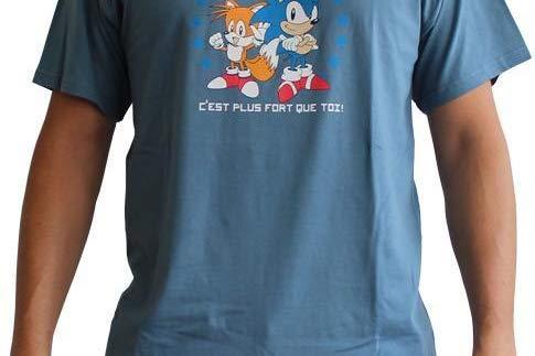 AbyStyle abystyleabytex200-xxl Abysse Sonic IT 'S stärker als Sie kurzen Ärmeln Mann Basic T-Shirt (2x ()