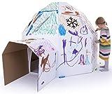 Kid-Eco Cardboard Igloo Playhouse Kit - White