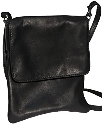 Primo Sacchi® Italian Soft Leather Hand Made Small and Medium Messenger Cross Body Shoulder Bag Handbag. Includes a Branded Protective Storage Bag.