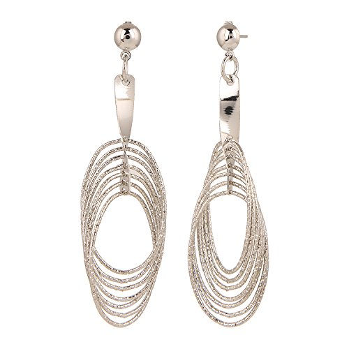 Efulgenz Designer Jewellery Trendy Silver Plated Fancy Party Wear Dangler Earrings Jewellery for Girls & Women